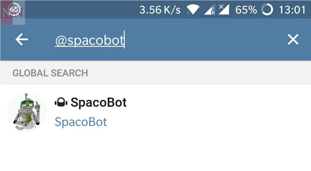 Ricerca Telegram bot in app 2